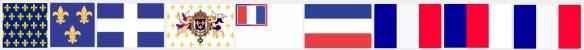 Évolution du drapeau Français