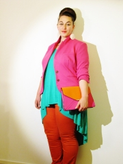 Live in color block