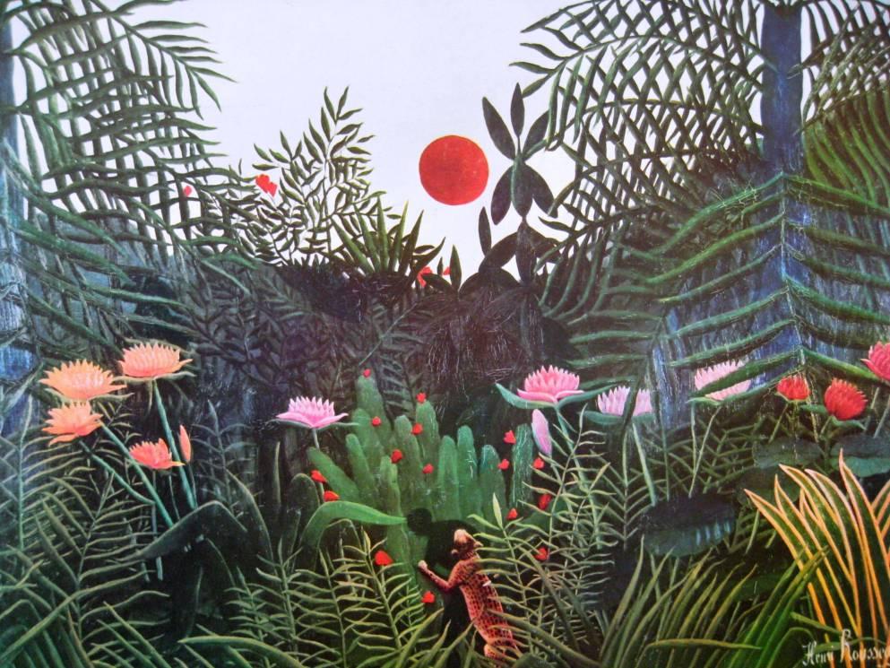 Aujourd'hui plongez dans les peintures de Douanier Rousseau