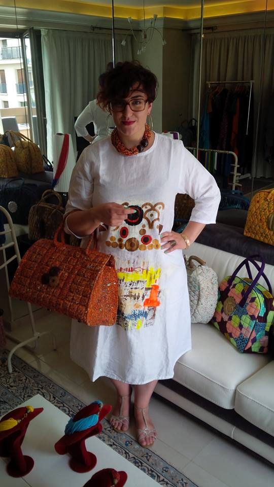 Robe, collier et sac Owolou Print