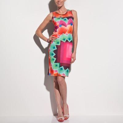 Robe sans manches imprimé graphique multicolore femme DESIGUAL