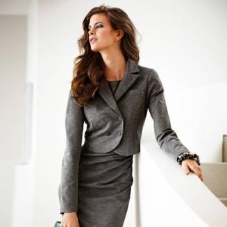 Veste spencer courte manches longues en maille milano femme VOTRE MODE