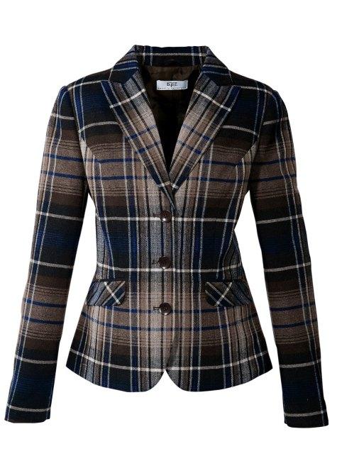 veste marron bleu gris bonprix