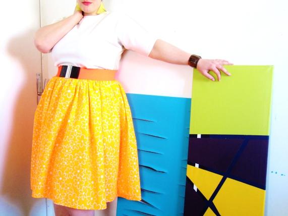 jupe néon